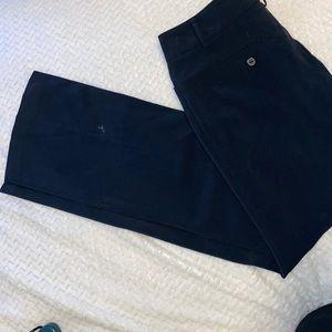 Black dress trousers